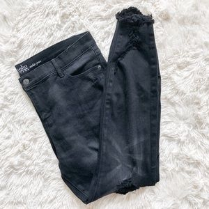 NY&CO Distressed Black Soho Ankle Jeans